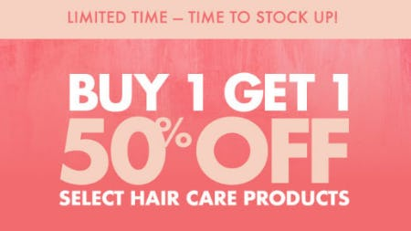 BOGO 50% Off Select Hair Care Products from Sally Beauty Supply