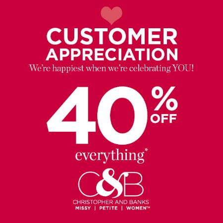 Customer Appreciation from christopher & banks