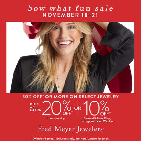 Bow What Fun Sale from Fred Meyer Jewelers