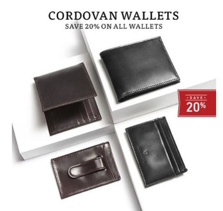 20% Off All Wallets