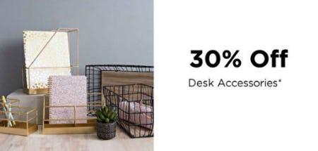 30% Off Desk Accessories from Kirkland's