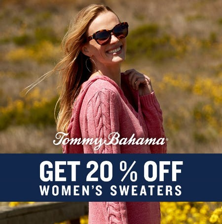 Get 20% Off Women's Sweaters from Tommy Bahama