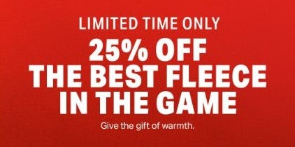 25% Off the Best Fleece in the Game from Under Armour