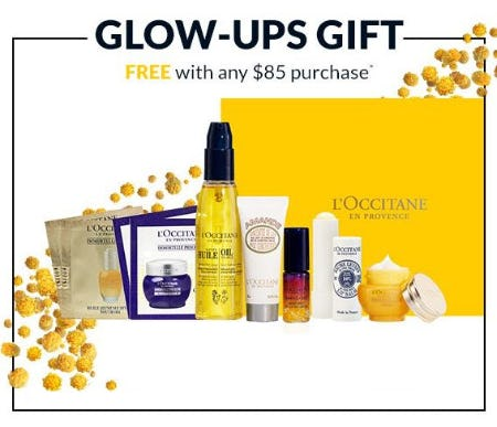 Glows-Ups Gift Free With Any $85 Purchase from L'Occitane