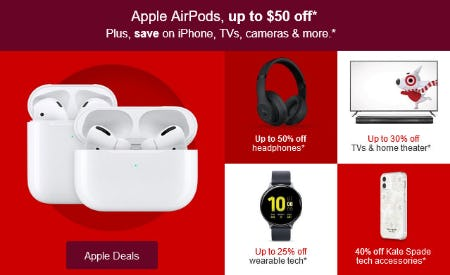 Up to $50 Off Apple AirPods