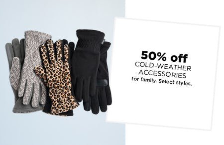 50% Off Cold-Weather Accessories from Kohl's