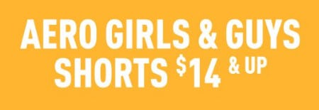 Aero Girls & Guys Shorts $14 & Up from Aéropostale