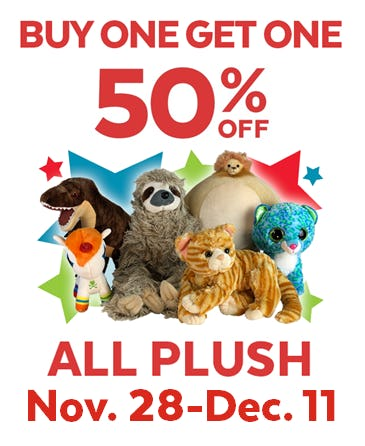 Buy One Get One 50% off Stuffed Animals from Go! Calendars Games & Toys