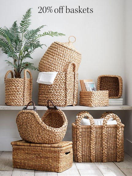 20% Off Baskets from Pottery Barn