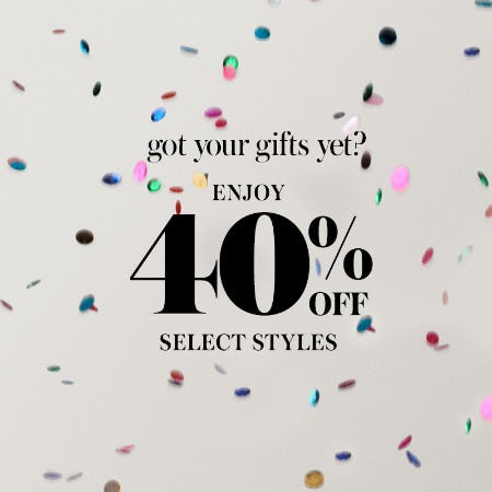 40% off select gifts from Kate Spade New York