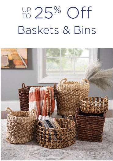 Up to 25% Off Baskets & Bins from Kirkland's