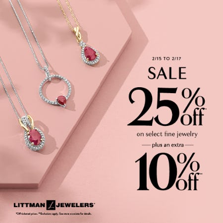 President's Day Sale from Littman Jewelers