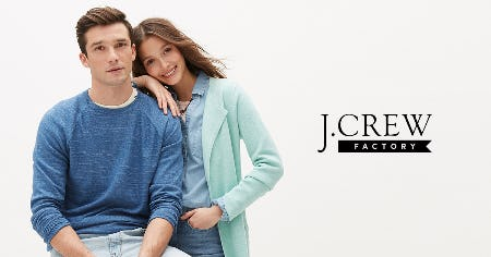 UP TO 60% OFF STOREWIDE! from J. Crew Factory