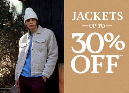 Jackets up to 30% Off from PacSun