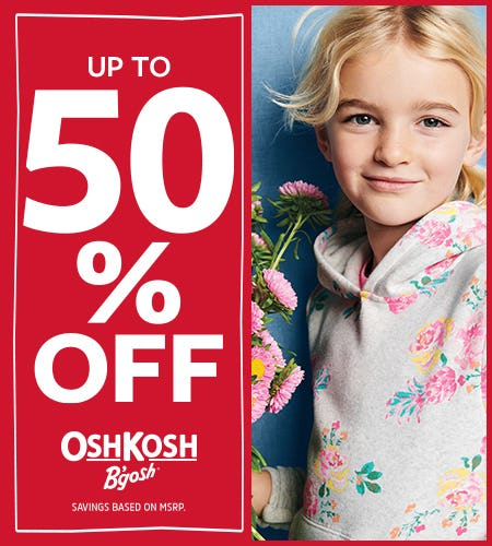Be Mine Up to 50% off from Oshkosh B'gosh