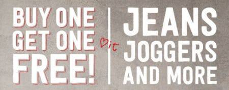 BOGO Free Jeans, Joggers & More from Crazy 8