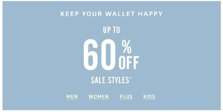 Up to 60% Off Sale Styles