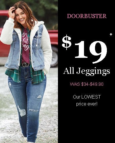$19 All Jeggings from maurices
