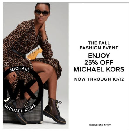 Enjoy 25% Off Michael Kors