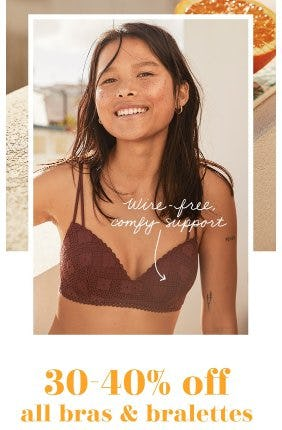 30-40% Off All Bras & Bralettes from Aerie