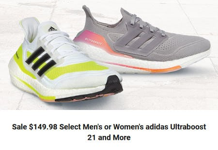 Sale $149.98 Select Men's or Women's adidas Ultraboost 21 and More from Dick's Sporting Goods