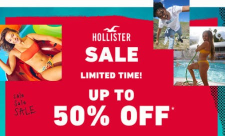 Up to 50% Off Sale from Hollister Co.