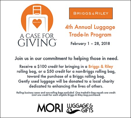 LUGGAGE TRADE-IN PROGRAM AT MORI LUGGAGE & GIFTS from Mori Luggage & Gifts