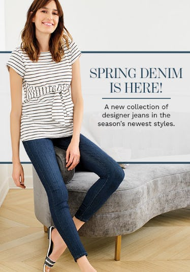 Spring Denim is Here from A Pea In The Pod, Maternity Redefined
