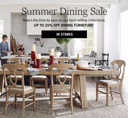 Up to 25% Off Dining Furniture