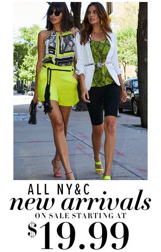All N&C New Arrivals on Sale Starting at $19.99 from New York & Company