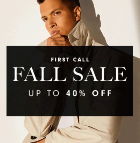 Up to 40% Off First Call Fall Sale from Neiman Marcus