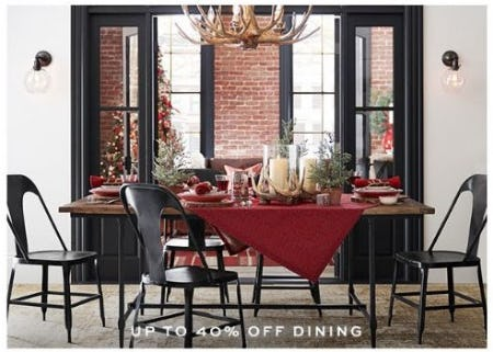 Up to 40% Off Dining from Pottery Barn