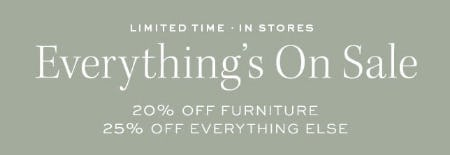 Up to 25% Off Sale from Pottery Barn