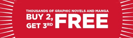 Buy 2, Get 3rd Free on Thousands of Graphic Novels and Manga from Books-A-Million