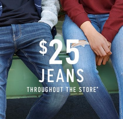 $25 Jeans Throughout The Store