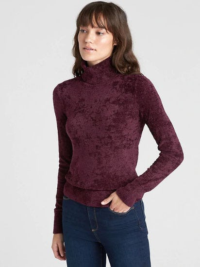 Velour Turtleneck Sweater from Gap