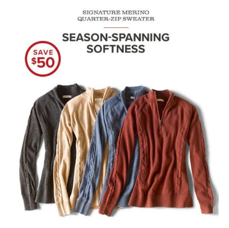 Save $50 Select Sweaters from Orvis