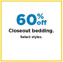 60% Off Closeout Bedding from Kohl's