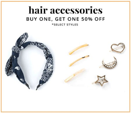 BOGO 50% Off Hair Accessories from Tillys