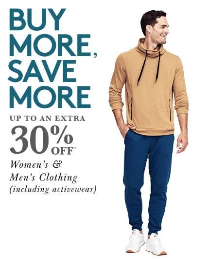 Up to an Extra 30% Off Women's & Men's Clothing from Lord & Taylor