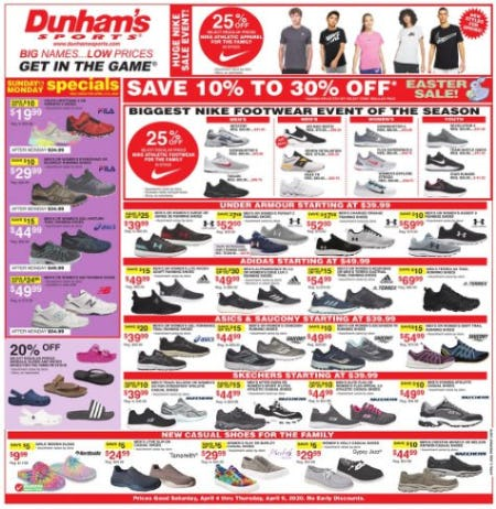 Weekly Specials from Dunham's Sports