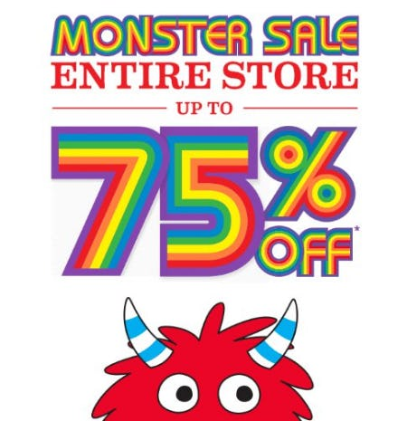 Entire Store up to 75% Off