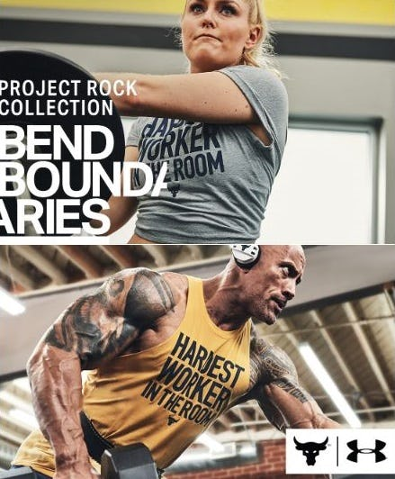 Project Rock Graphic T's from Under Armour