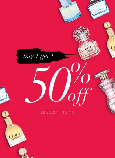 BOGO 50% Off Select Items from Perfumania