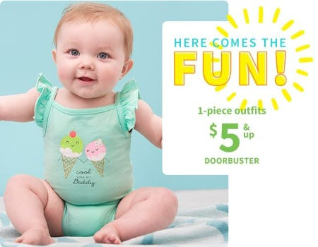 1-Piece Outfits $5 & Up Doorbuster from Carter's