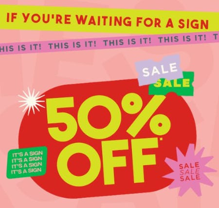 50% Off Sale from Cotton On Kids