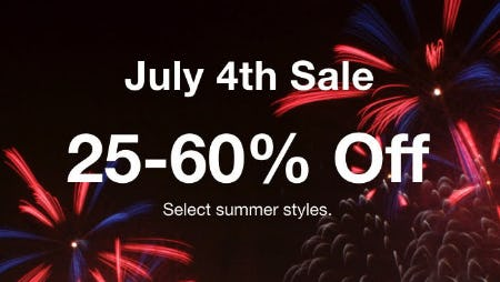 25-60% Off July 4th Sale from macy's
