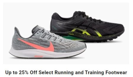 Up to 25% Off Select Running and Training Footwear from Dick's Sporting Goods