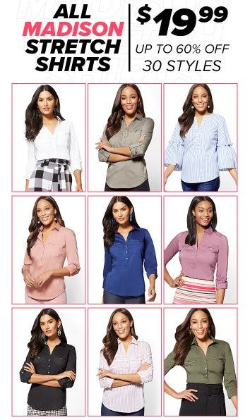 All Madison Stretch Shirts up to 60% Off from New York & Company