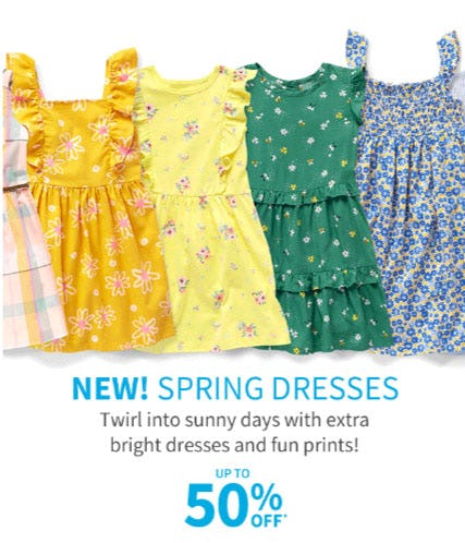 Up to 50% Off Dresses from Carter's